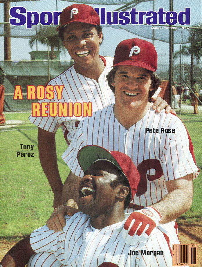 with Tony Perez and Joe Morgan