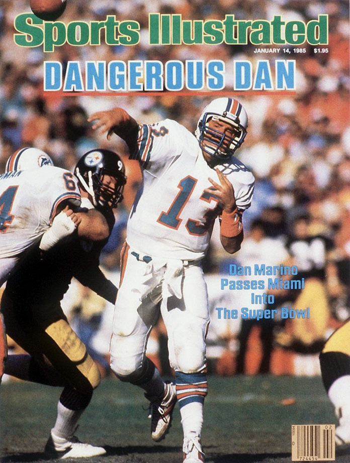 Dan Marino appears on the Jan. 14, 1985 cover of Sports Illustrated.