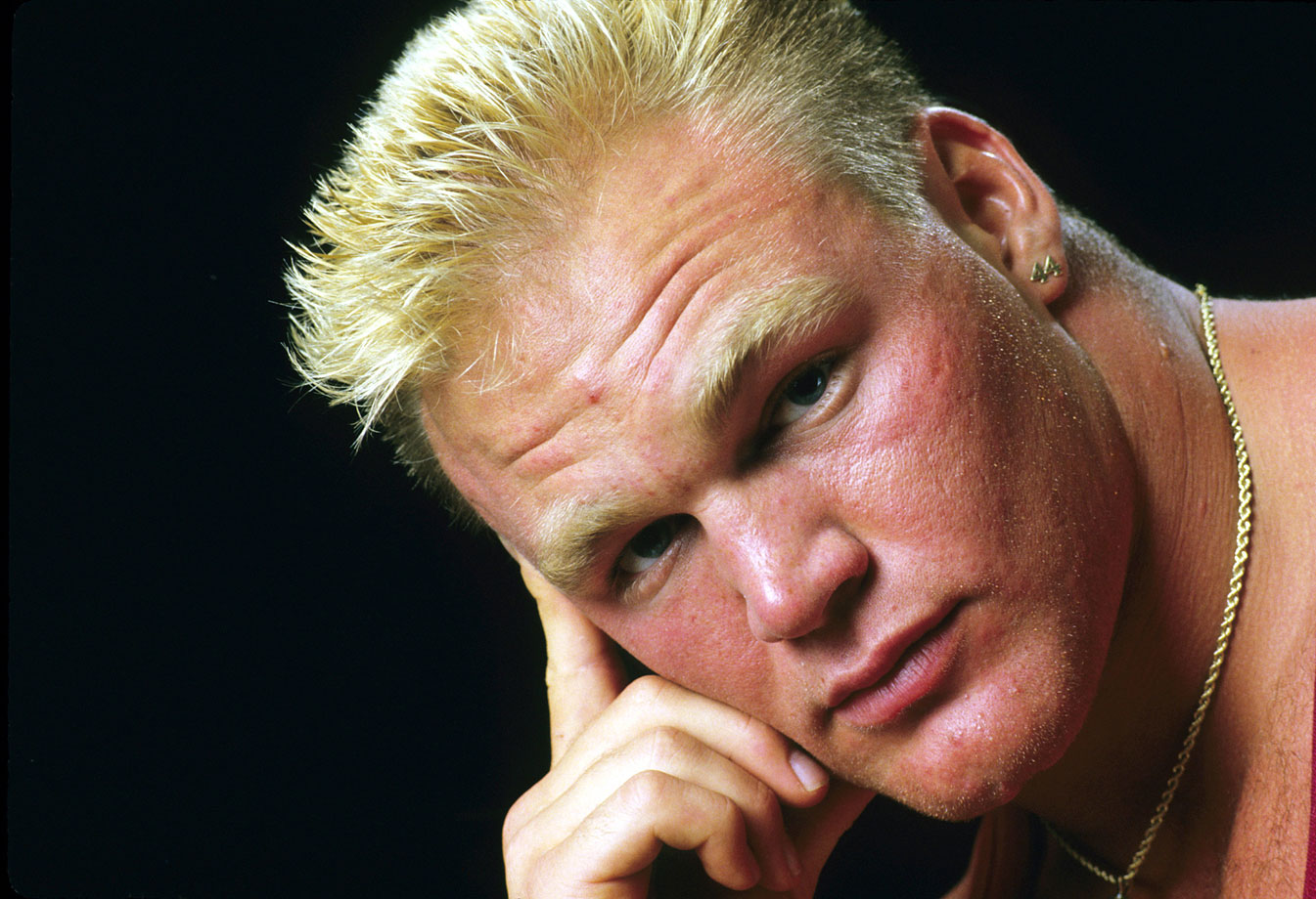 The Boz appears in deep thought during a photo shoot in Norman, Okla.