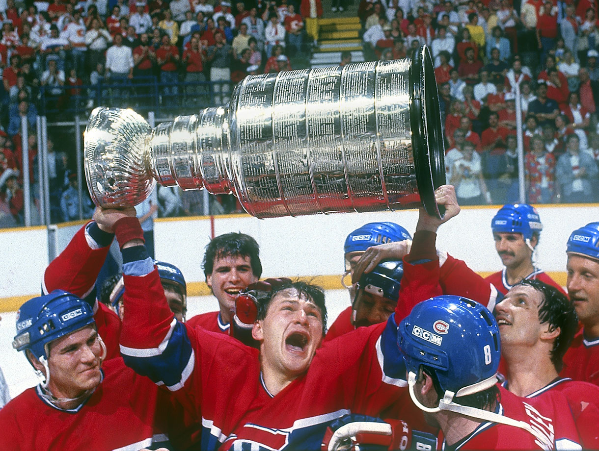 After the Canadiens snuffed the Calgary Flames in Game 5, winger Claude Lemieux — one of the great clutch players and biggest villains in NHL postseason history — emotionally raised the first of the four Stanley Cups he won during his 22-year NHL career.