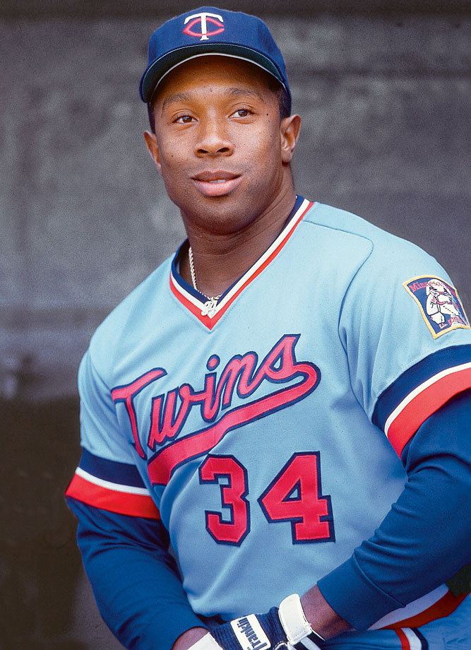 Kirby Puckett poses for a portrait in Detroit.