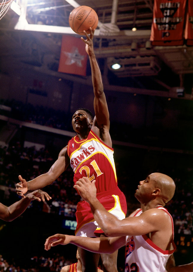 Overall, 1987 was a disappointing year for Wilkins. He finished second to Michael Jordan in the NBA scoring title and the Slam Dunk Contest. But on Christmas Day, Wilkins was second to none. In the Hawks' 106-100 victory over the 76ers, Wilkins finished with 45 points, nine rebounds and three assists.