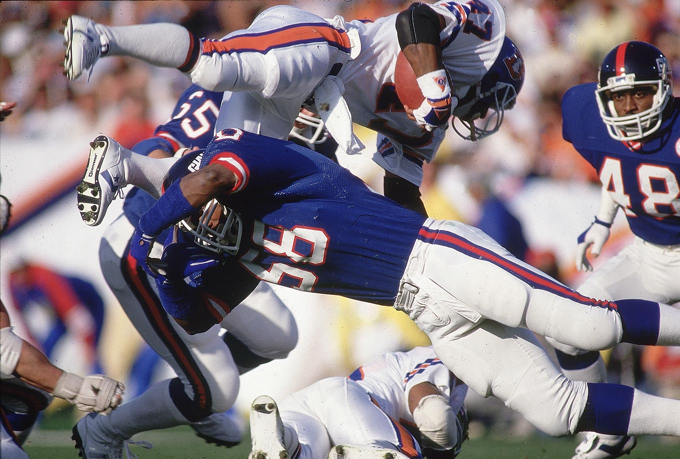 Carl Banks and the New York Giants' Blue Wrecking Crew defense held Gerald Wilhite and the Broncos to 10 second-half points on their way to a 39-20 victory -- the Giants' first ever in a Super Bowl.