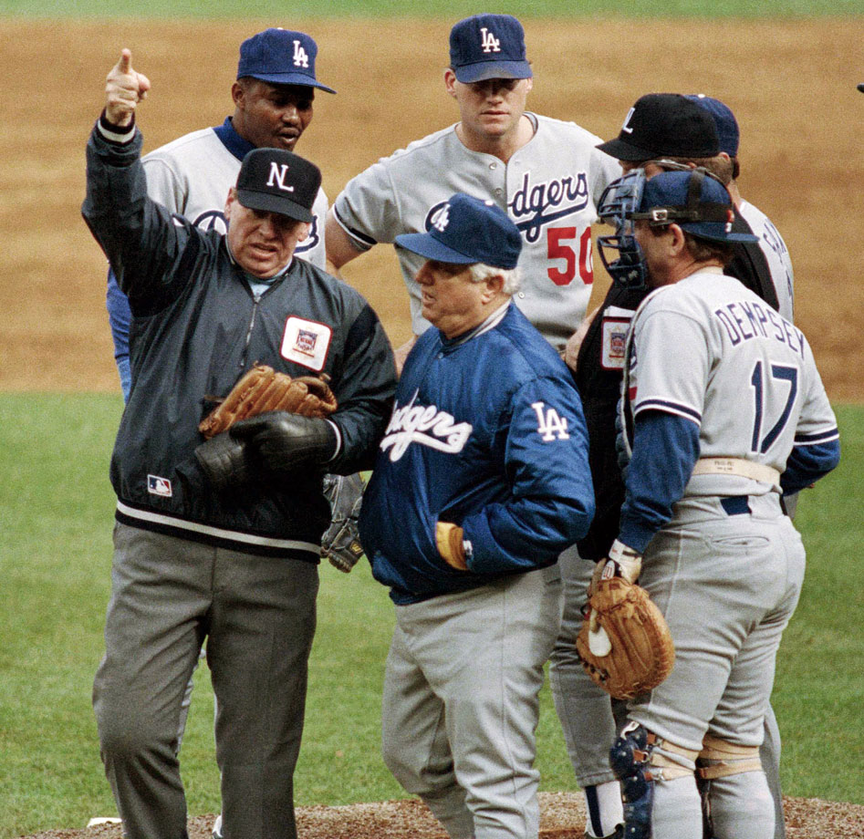 Dodgers reliever Jay Howell was hit with a 2-day suspension for pine tar in his glove, in midst of the NLCS against the Mets.