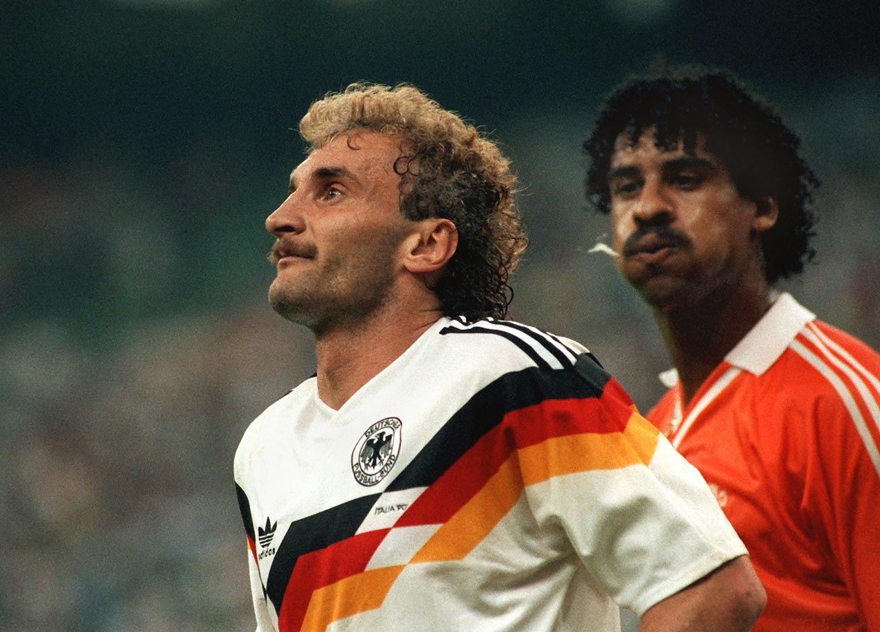 Frank Rijkaard spits at Rudy Voller in a match between Germany and the Netherlands, permanently cementing the moment as one of the World Cup's most infamous.