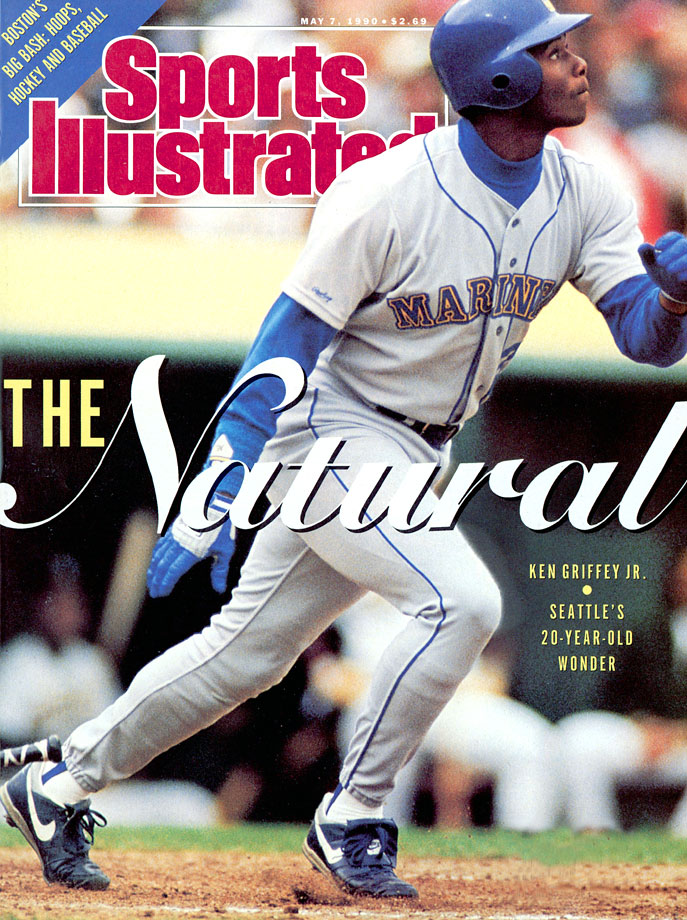 Ken Griffey Jr. reaches the majors in 1989, and a year later appears on the first of his many Sports Illustrated covers on May 7, 1990.
