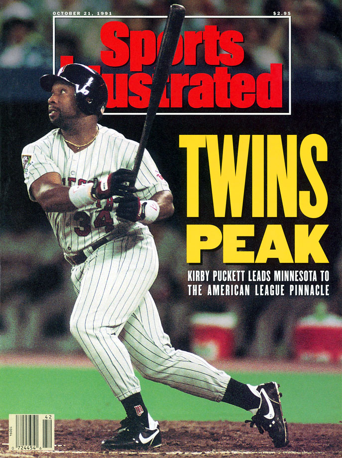 Kirby Puckett appears on his first SI cover during the Twins' ALCS playoffs against the Blue Jays.