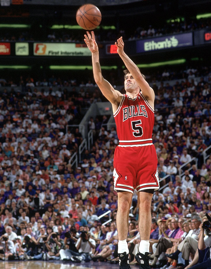 John Paxson's game-winning three-pointer in Phoenix gave the Bulls their third consecutive championship.