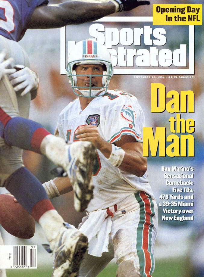Dan Marino appears on the Sept. 12, 1994 cover of Sports Illustrated.