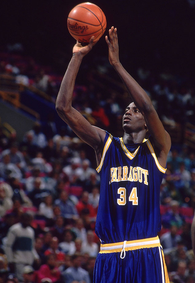 Kevin Garnett was named Mr. Basketball for Illinois after averaging 25 points, 18 rebounds, 7 assists and 7 blocks his senior season at Farragut.