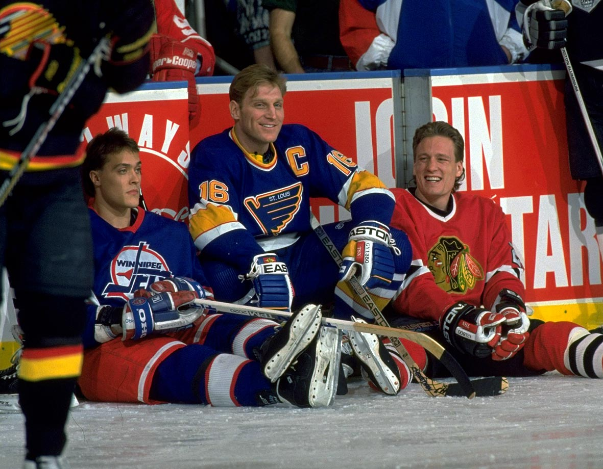 with Brett Hull and Jeremy Roenick