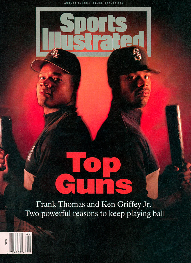 Ken Griffey Jr. poses with fellow slugger Frank Thomas for the Aug. 8, 1994 Sports Illustrated cover.