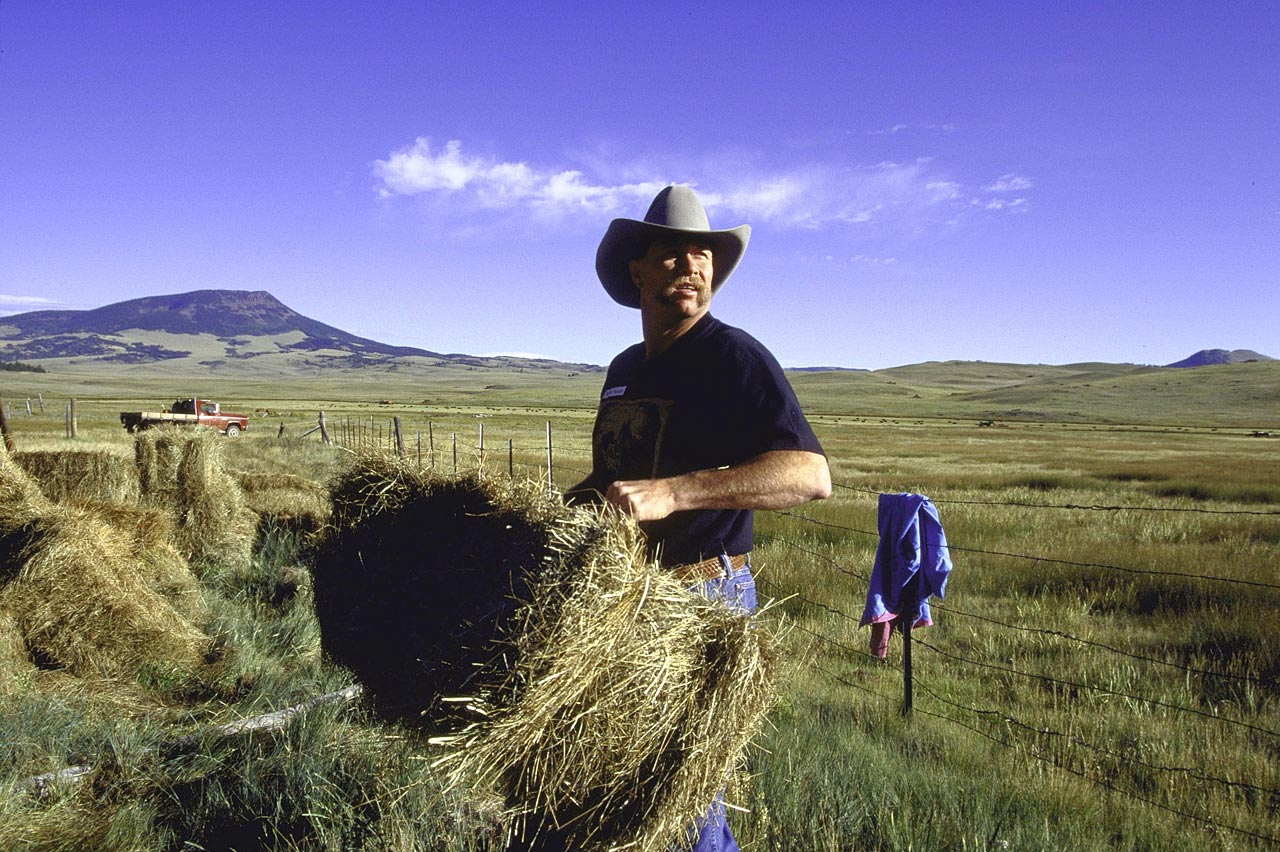 Gossage works at his farm in Colorado Springs following his retirement from baseball in 1994.