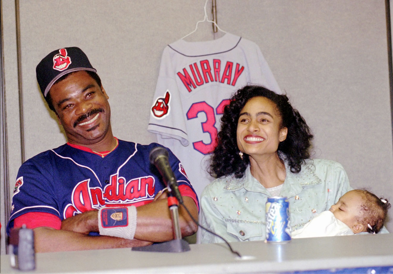 Eddie Murray, wife Janice and daughter Jordan