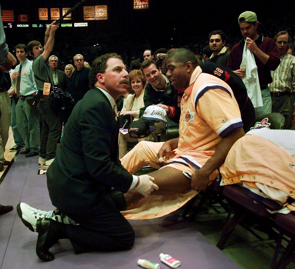 Gary Vitti and Magic Johnson