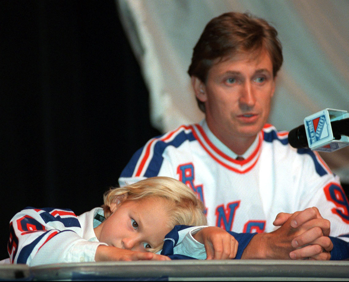 Wayne Gretzky and son Ty