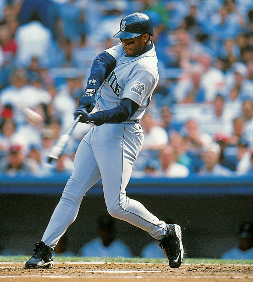 In 1997, Ken Griffey Jr. won his only MVP award to date with a monster season: .304 average, 56 HRs, 147 RBI, .646 slugging for the AL West champion Mariners.