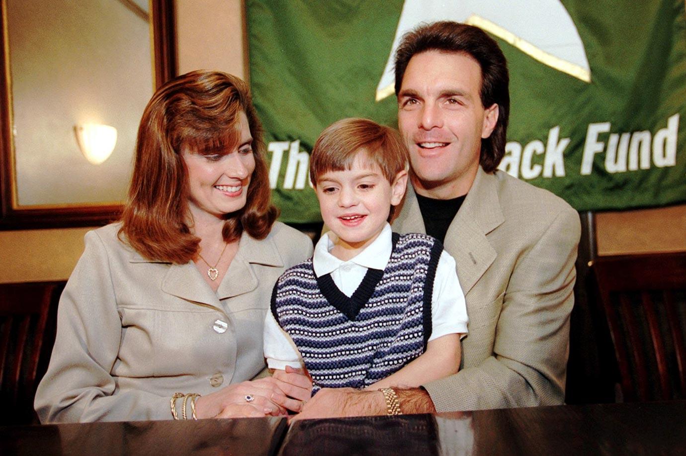 Doug Flutie, wife Laurie and son Doug Jr.