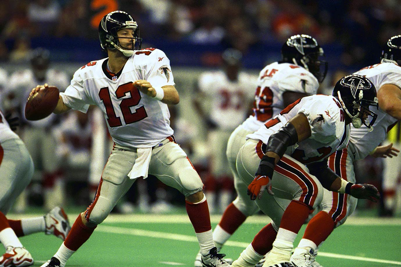 Quarterback Chris Chandler and running back Jamal Anderson helped the Falcons win their final nine in 1998, even with second-year head coach Dan Reeves missing Weeks 15 and 16 after undergoing quadruple bypass surgery. The winning ways continued all the way to the first Super Bowl appearance in franchise history, but ended with a 34-19 loss to the Broncos. The 1980 Falcons also won nine in a row, led by quarterback Steve Bartkowski, and almost ran their streak to 10, but lost 20-17 in overtime to the Rams in the final regular season game of the year.
