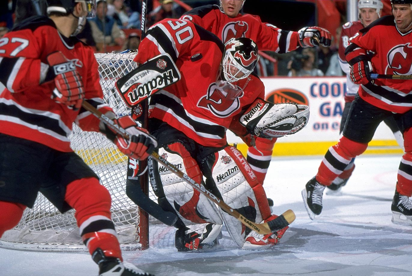 Blessed with a stifling defense in front of him, Brodeur led the NHL with a 1.88 GAA in 1996-97—becoming the first goaltender with a sub-1.90 since Bernie Parent of the Flyers in 1973-74. He also became the first since Montreal's Ken Dryden in 1976-77 to record 10 shutouts in a season.