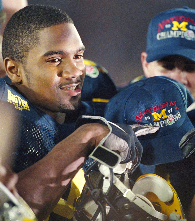 Michigan DB Charles Woodson after 1988 Rose Bowl.