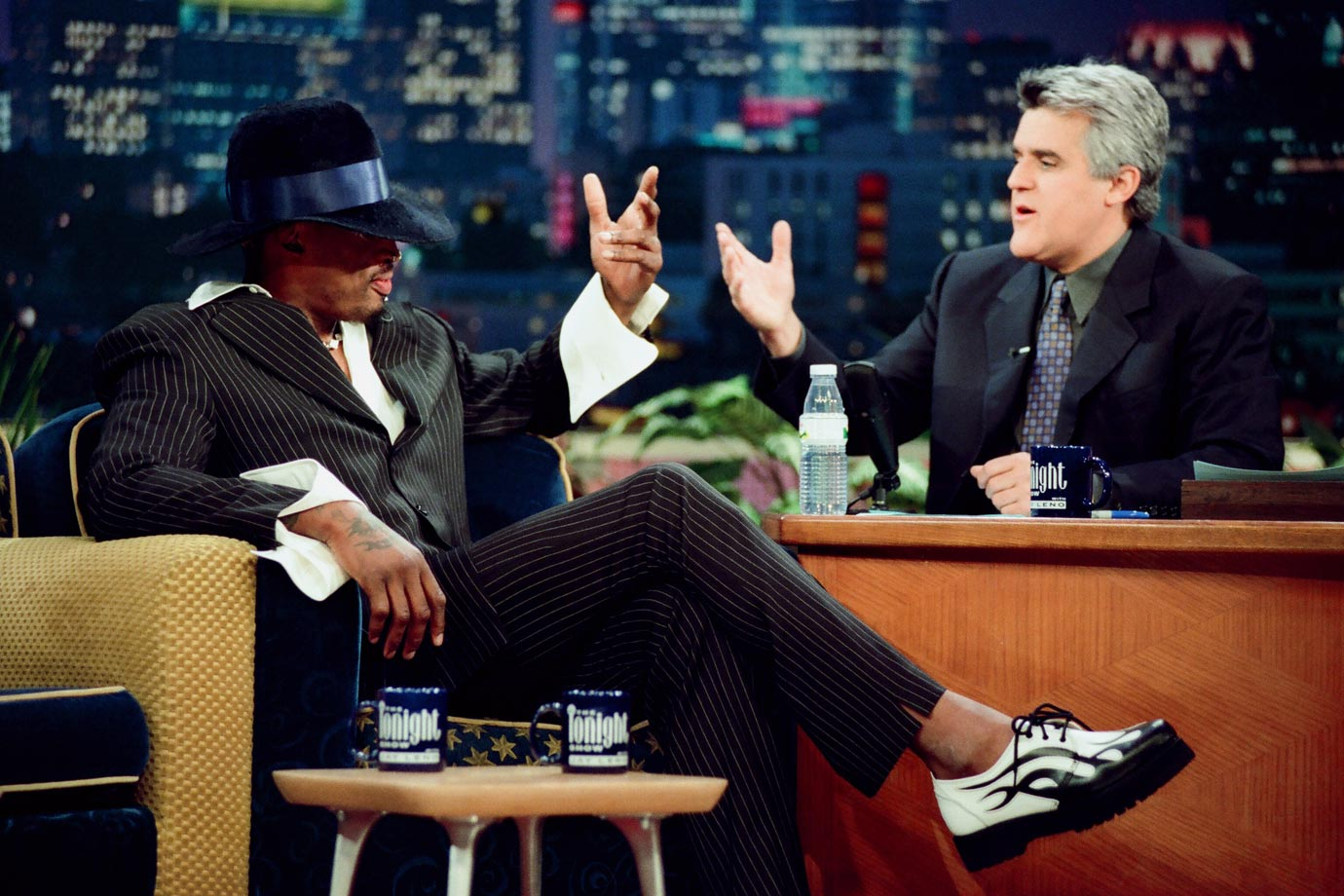"In 1999, Rodman told Jay Leno that he's ""pretty much"" sick of basketball but would like to continue playing in either Miami or Orlando."