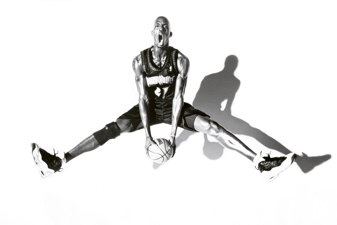 Kevin Garnett strikes a pose.