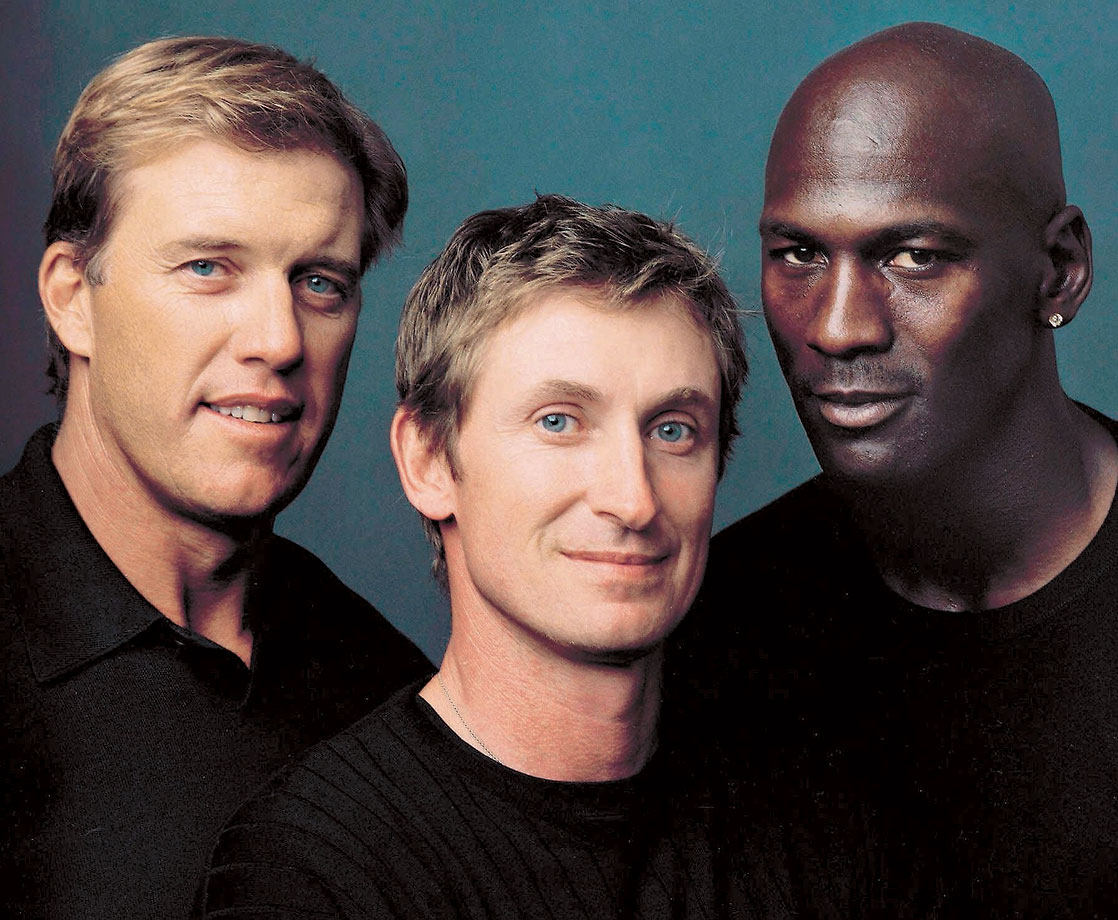 with Wayne Gretzky and Michael Jordan