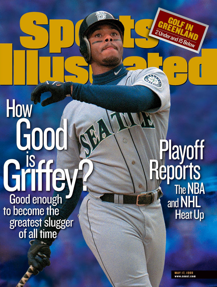 Ken Griffey Jr. appears on the May 17, 1999 cover of Sports Illustrated.