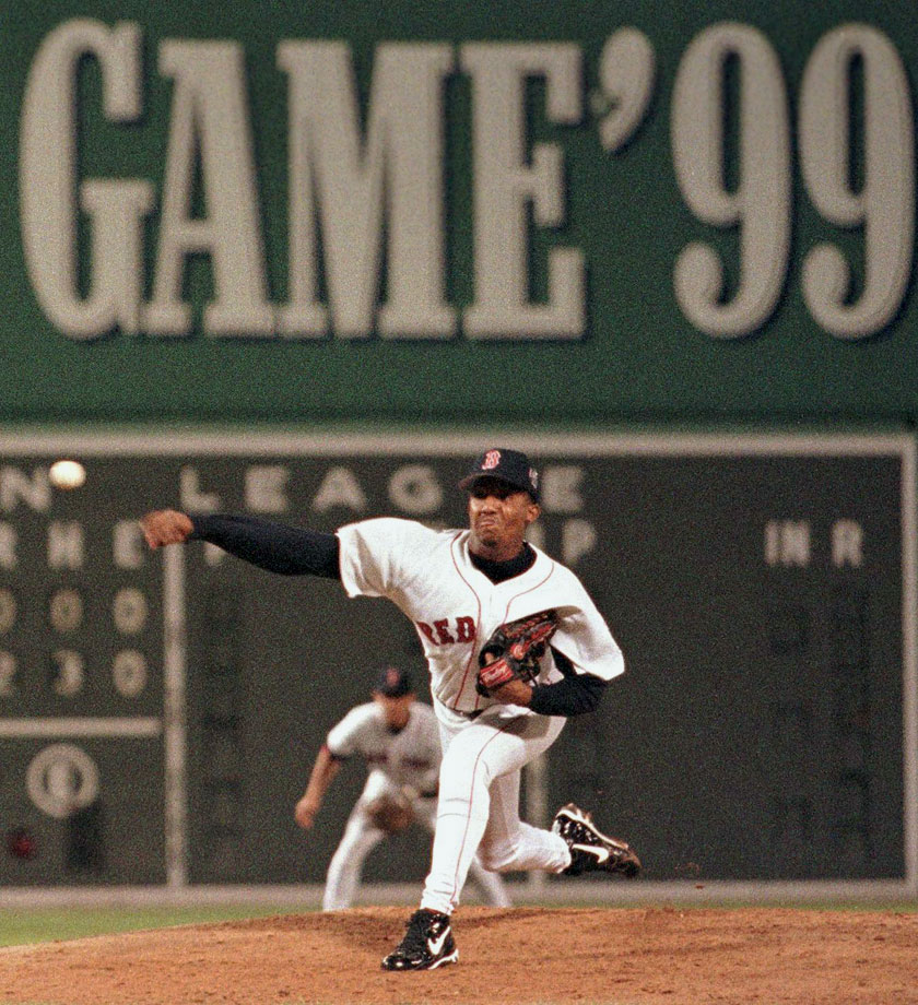 Pitching in his home ballpark of Fenway, Pedro Martinez became the first pitcher to strike out the first four batters in an All-Star Game. The MVP struck out five of the six batters he faced, and the AL won 4-1.
