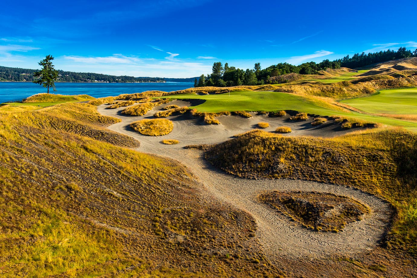 The par-three third hole is known as 'Blown Out'. It earned its nickname because of the strong winds that change the way the hole is played on a daily basis.