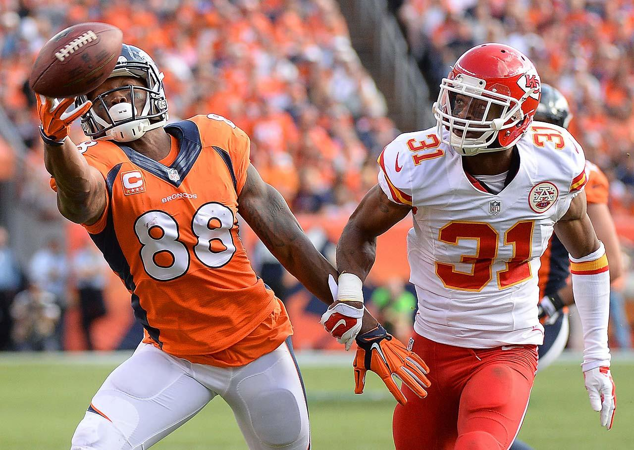 Demaryius Thomas caught five passes for 62 yards and one touchdown in Denver's 24-17 win over Kansas City.