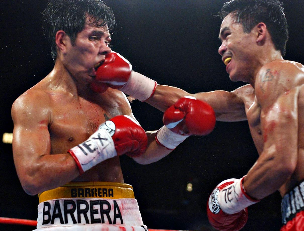With an 11th-round TKO of Barrera at the Alamodome, Pacquiao captured the lineal featherweight championship and cemented his stardom among American fight fans. It marked Pacquiao's third title in three weight classes.
