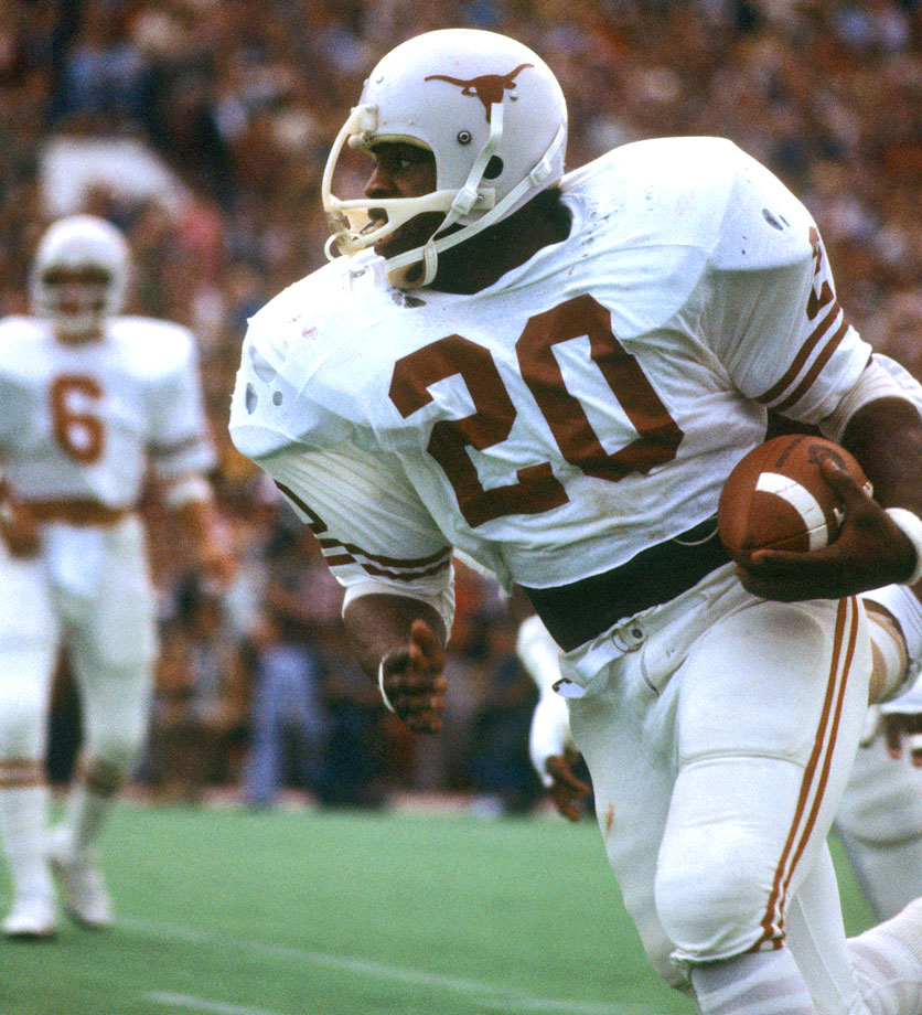 The Tyler Rose dominated like few running backs before him. He rushed for 4,443 rushing yards, 41 touchdowns and won the 1977 Heisman Trophy. — Runner-up: Johnny Rogers, KR/WR, Nebraska (1970-72)