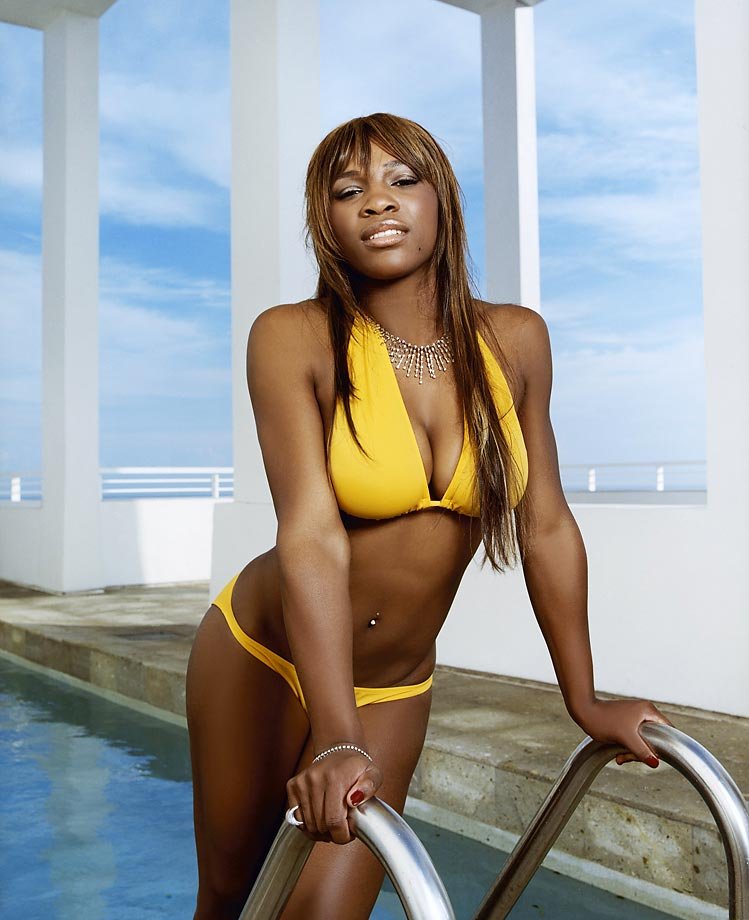 Serena's swimsuit poses didn't stop with SI. Here she poses during a December shoot.