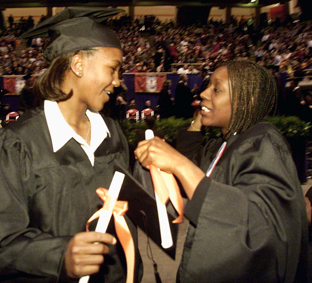 Tamika Catchings and Semeka Randall