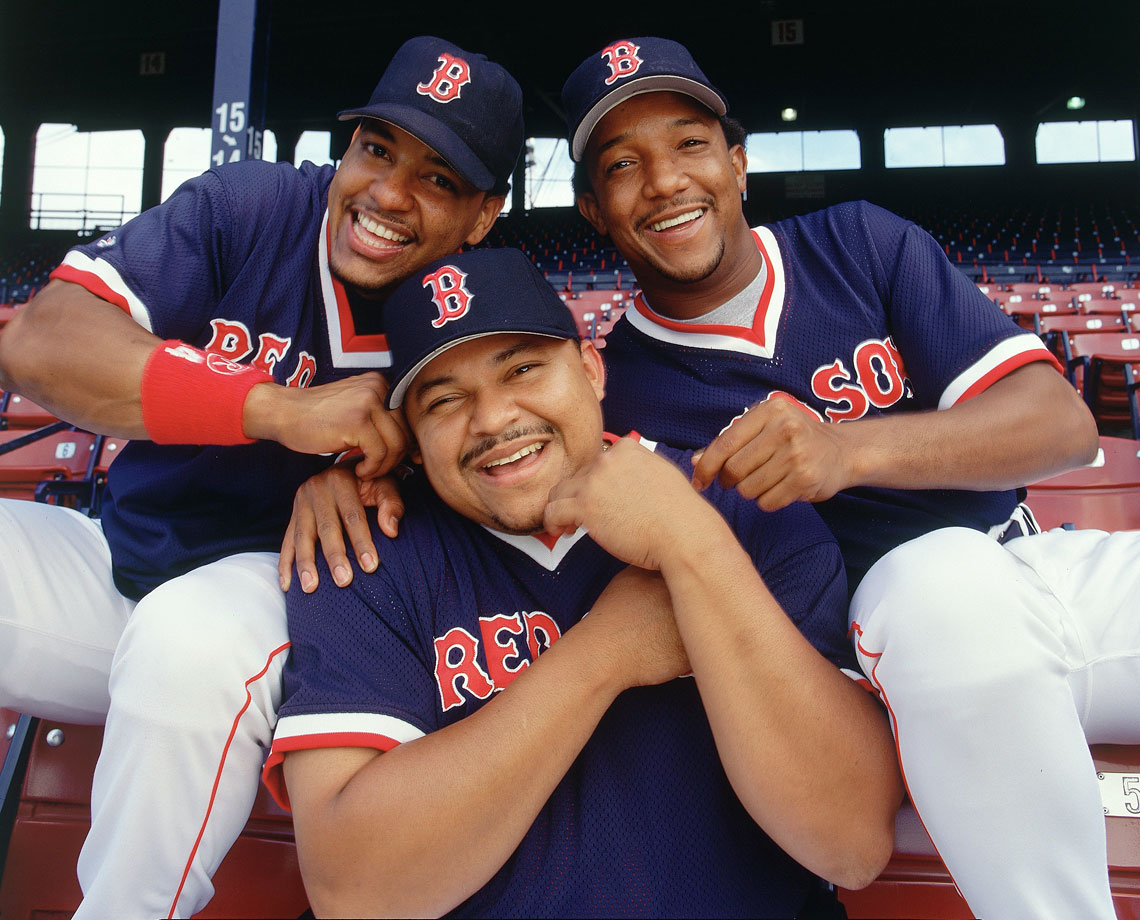 with Manny Ramirez and Rich Garces