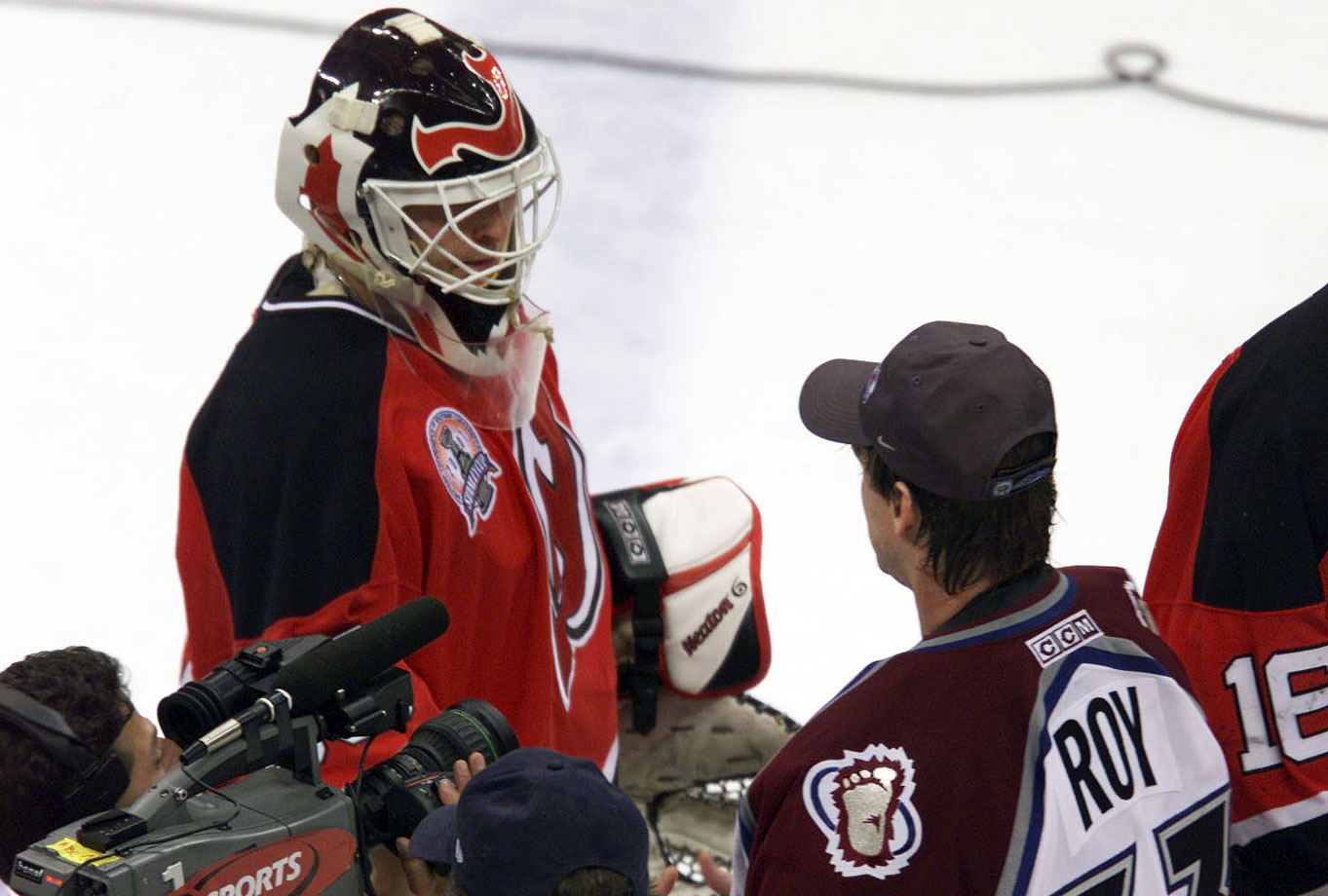 Seeking a repeat, Brodeur faced his childhood hero Patrick Roy in a memorable 2001 Stanley Cup Final, won by Colorado in seven games after the Avalanche rose from a three-games-to-two deficit. Roy denied the Devils a chance to win the Cup on home ice with a 4-0 win in Game 6, then completed the comeback with a 3-1 win in Colorado.