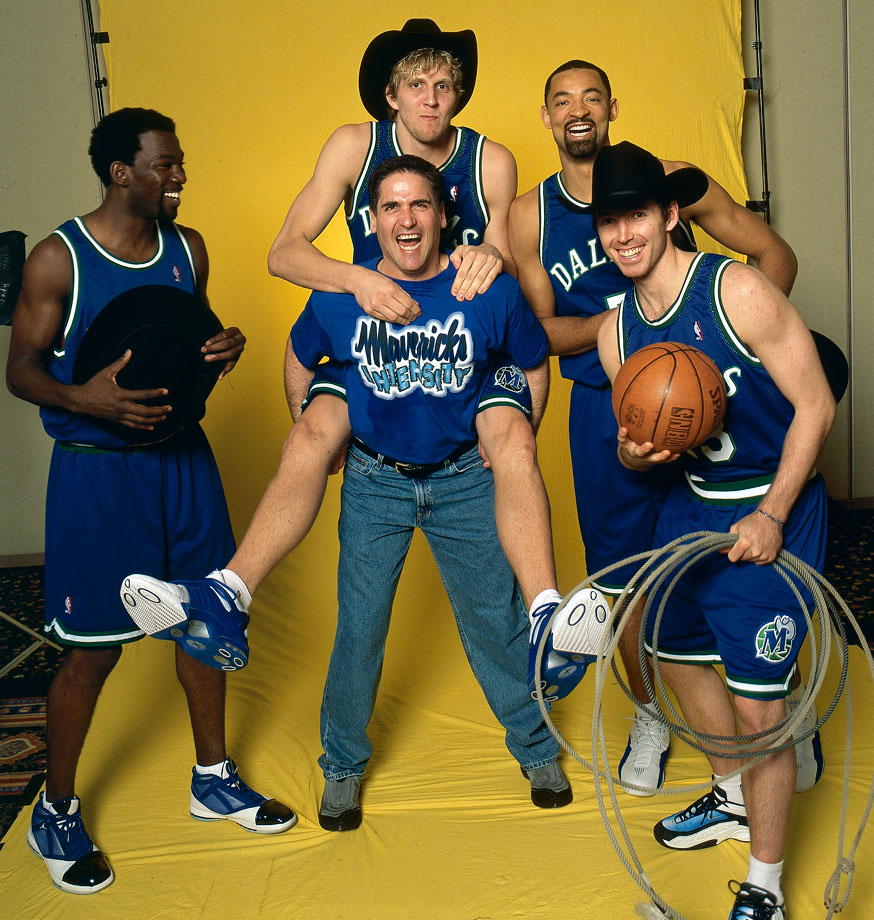 After two mediocre seasons in Phoenix, Nash was traded to Dallas for Martin Muursepp, Bubba Wells, Pat Garrity and a first-round draft pick. The Mavs struggled at first, but the drafting of Dirk Nowitzki and the acquisition of Michael Finley and Juwan Howard turned the Mavericks into contenders. The person with the biggest impact on Dallas' success was Mark Cuban, who purchased the team in 2000 and instantly turned them into contenders.