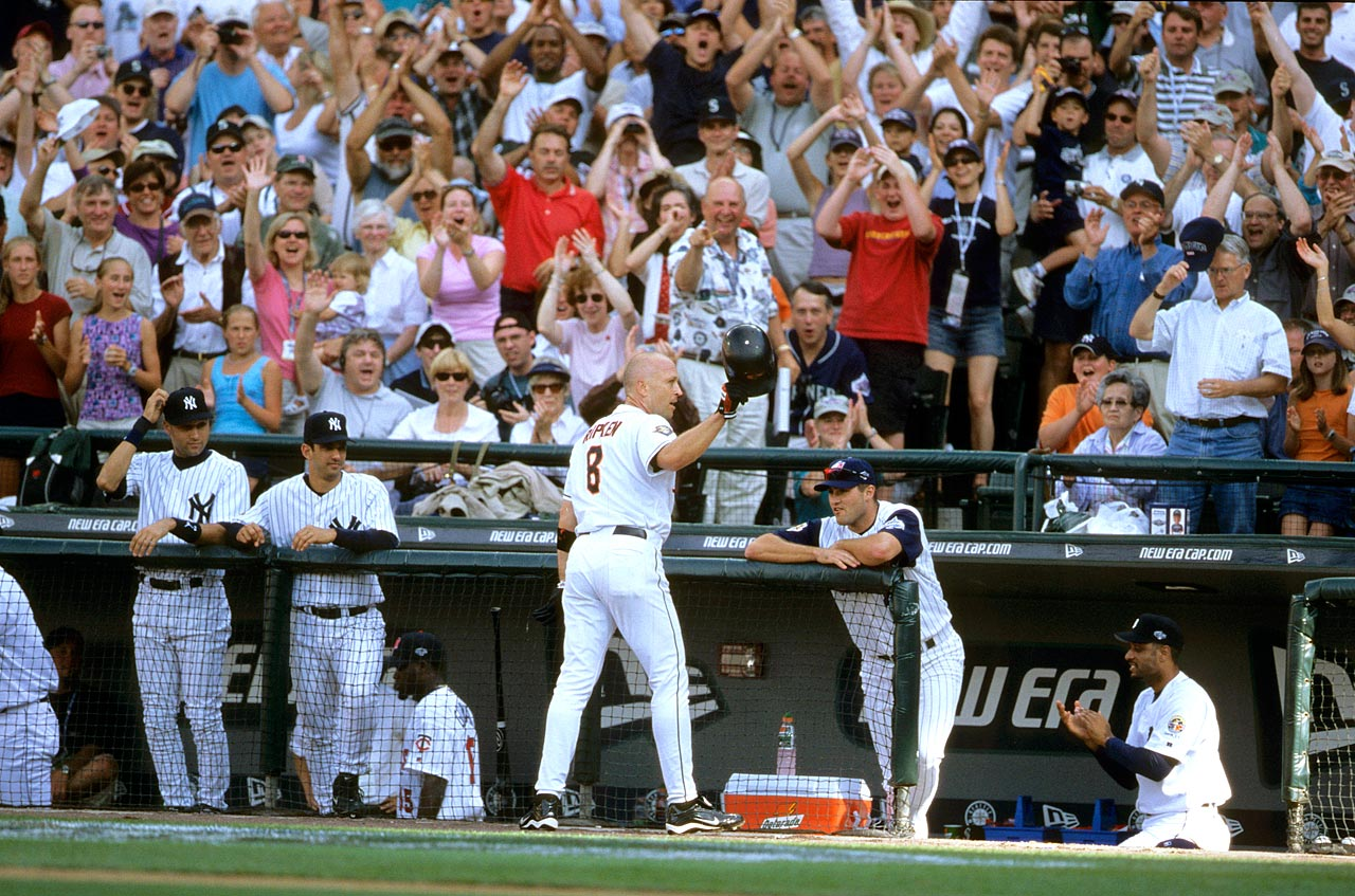 Playing in his 18th and final All-Star Game, Cal Ripken Jr. went deep off Chan Ho Park to win his second MVP award in the midsummer classic.