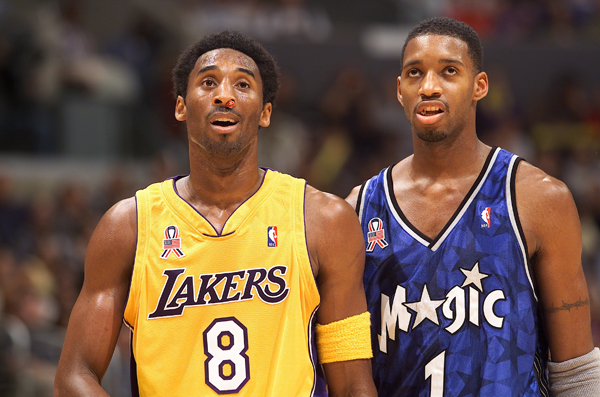 Kobe Bryant and Tracy McGrady (2001) :: Getty Images