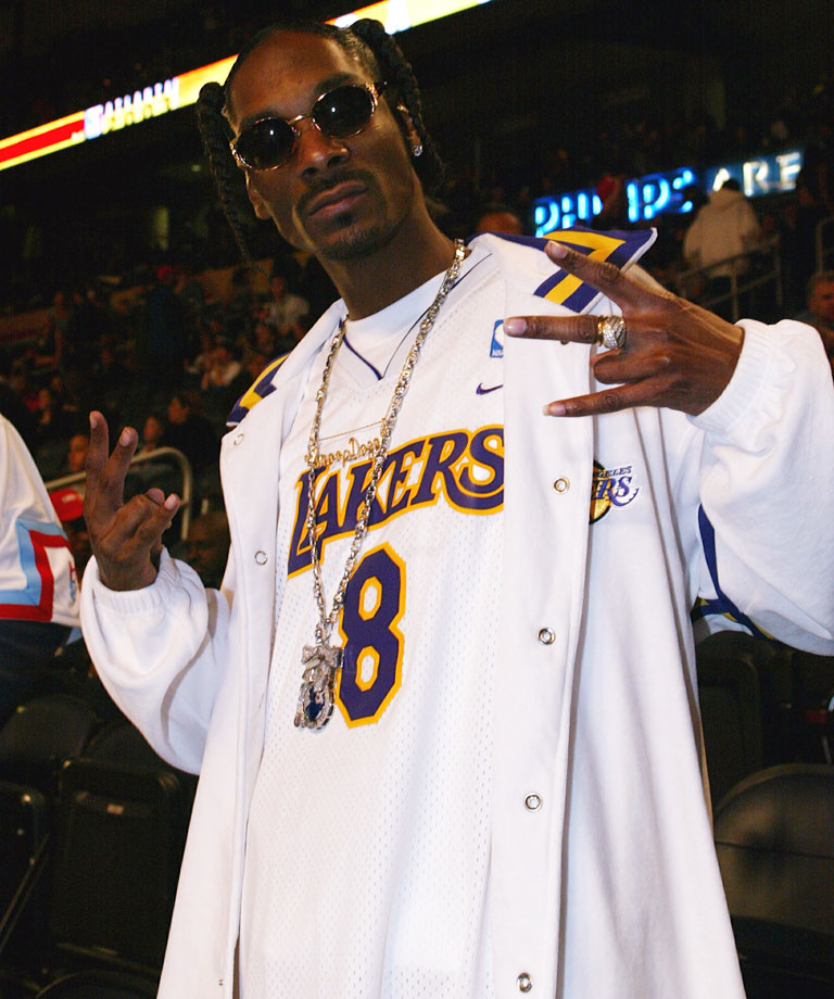 Snoop Dogg attends the NBA All-Star Game on Feb. 9, 2003 at Phillips Arena in Atlanta.