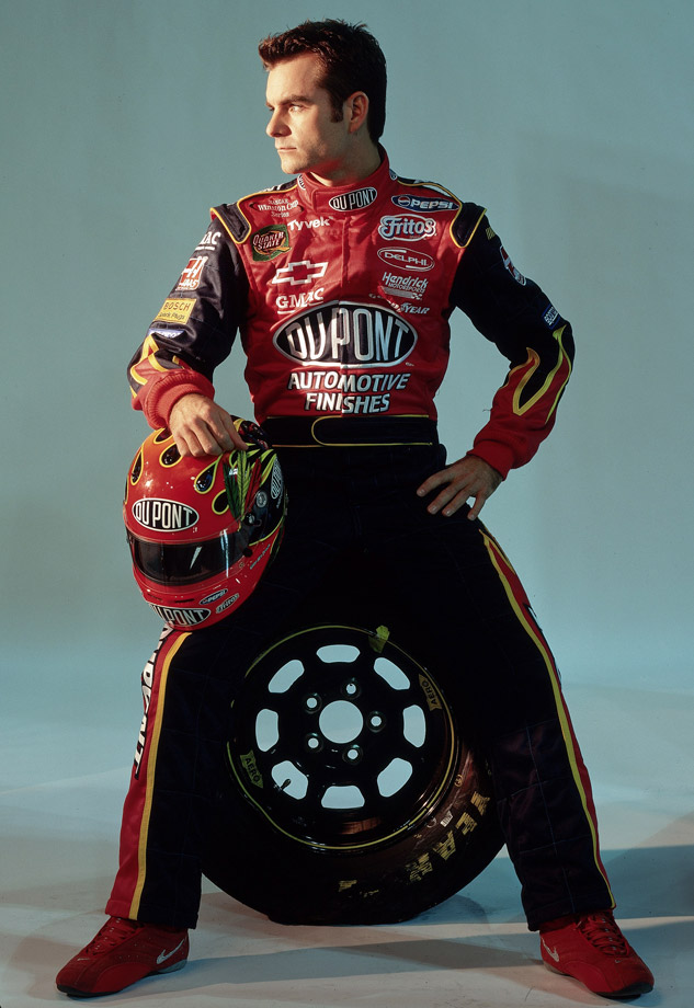 Jeff Gordon poses during a photo shoot in Charlotte, N.C.
