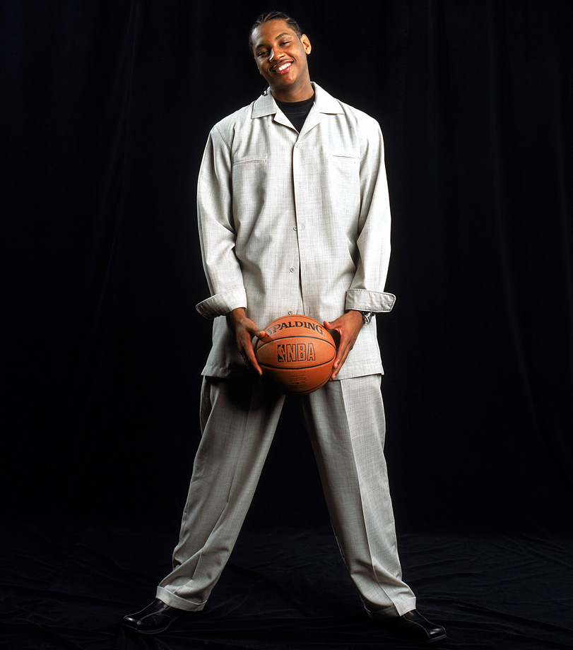 You know those awkward rookie portraits? Here's one of Carmelo.