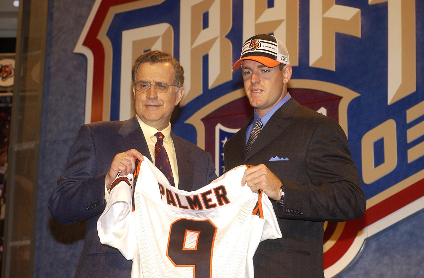 Palmer was drafted No. 1 overall in a draft that also saw Andre Johnson, Terrell Suggs, Terence Newman and Troy Polamalu go in the first round.