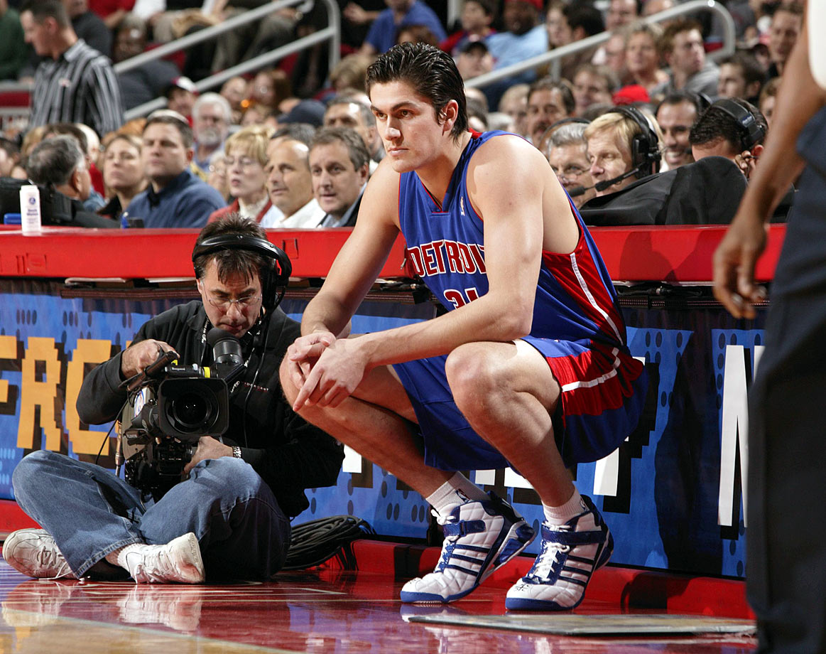 LeBron James, Milicic, Carmelo Anthony, Chris Bosh and Dwyane Wade — which top five pick from 2003 doesn't belong? In fairness, the 28-year-old Milicic showed flashes of strong play. But overall, in 10 seasons Milicic averaged 6.0 points and 4.2 rebounds while playing for six teams; he did not play in the NBA in 2013-14. Joe Dumars and the Pistons whiffed on this one.