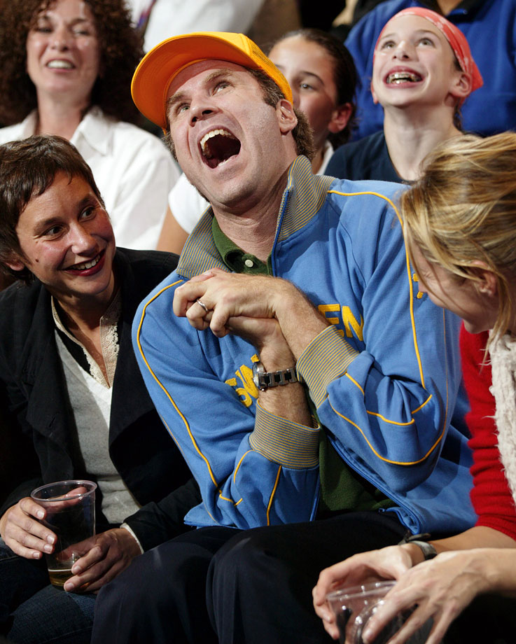 Will Ferrell reacts during the New York Knicks game against the Sacramento Kings on Nov. 7, 2003 at Madison Square Garden in New York City.