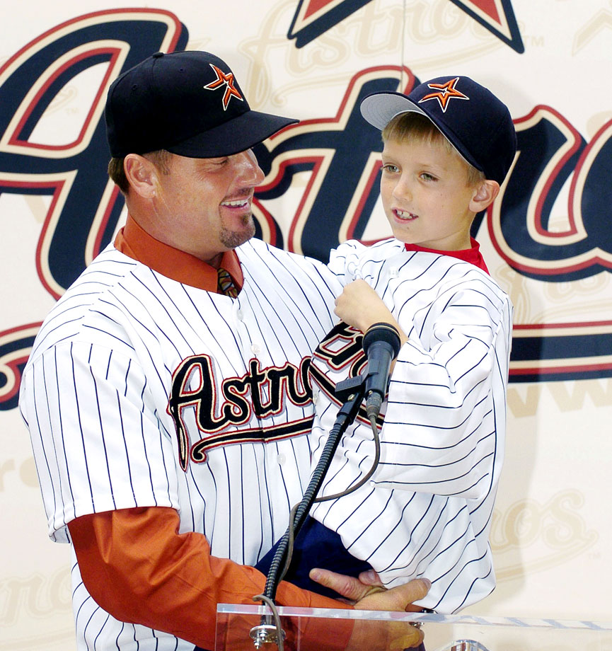 Roger Clemens and son Kody