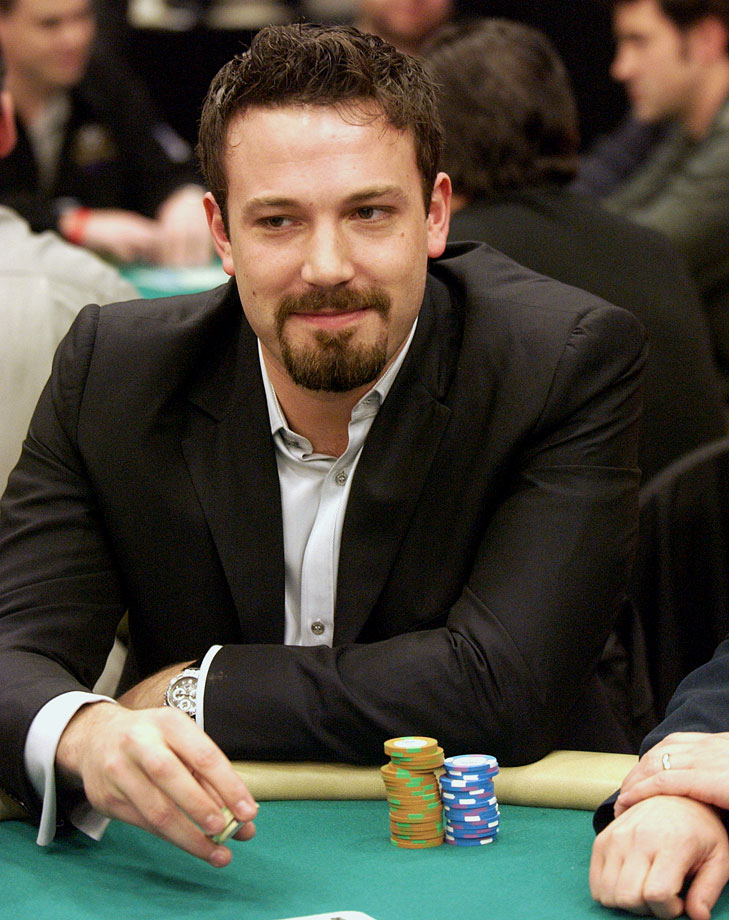 Ben Affleck plays a hand of poker during the World Poker Celebrity Match on Feb. 25, 2004 at Commerce Casino in Commerce, Calif.