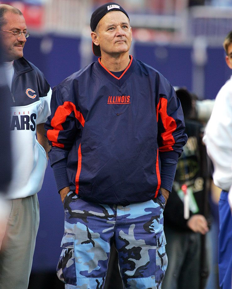 Bill Murray attends the Chicago Bears game against the New York Giants on Nov. 7, 2004 at Giants Stadium in East Rutherford, N.J.